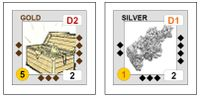 Home made Wizard Kings 2nd edtion Silver and Gold blocks sticker art in the bgg files (download) section
