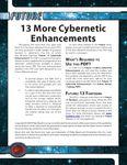 RPG Item: 13 More Cybernetic Enhancements