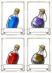 RPG Item: Potion Cards (customizable)