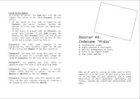 "RPG Item: Dossier #4: Codename ""Midas"""