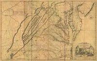 RPG Item: Antique Maps 19: Virginia of the 1700's