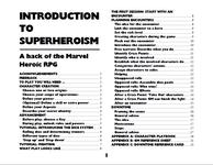 RPG Item: Introduction to Superheroism: A Hack of the Marvel Heroic RPG