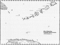 RPG Item: Wilderlands Map 17: Silver Skein Islands