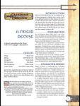 RPG Item: A Frigid Demise