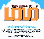 Video Game: Adventures of Lolo
