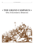 RPG Item: The Grand Campaign - One: A Gathering Darkness