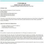 RPG Item: UNIVERSAL: Simple Reality RPG Rules
