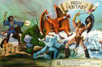 RPG Item: High Fantasy GM Screen & Character Sheets