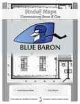 RPG Item: BinderMaps: Convenience Store & Gas - Blue Baron
