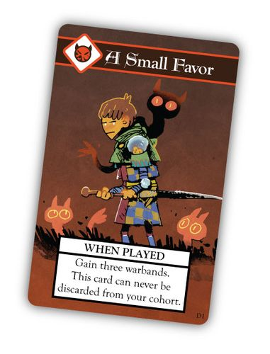 A Small Favor card from Oath the Board Game