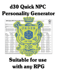 RPG Item: FGM031a: d30 Quick NPC Personality Generator