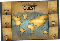 Board Game Accessory: North South East Quest: Interactive Playmat
