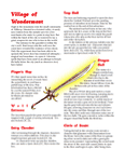 RPG Item: Sword of Wonder