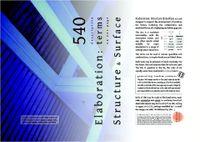 RPG Item: Elaboration: Structure & Surface