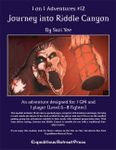 RPG Item: 1 on 1 Adventures #12: Journey into Riddle Canyon