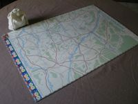 My home-made big map (50x73 cm). The blocks are in the bag!