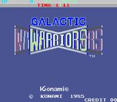 Video Game: Galactic Warriors