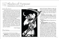 RPG Item: Blades of Purpose