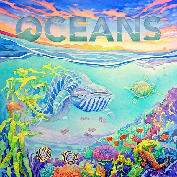 Oceans (An Evolution Game) - Box Cover Art by Catherine Hamilton.