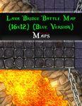 RPG Item: Lava Bridge Battle Map (16x12) (Blue Version)