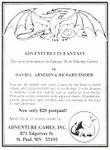 RPG Item: Adventures in Fantasy