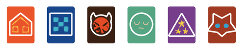 Oath preliminary suit icons for Order, Hearth, Discord, Arcane, Beast, and Nomad