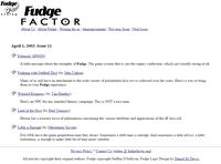 Issue: Fudge Factor (Issue 11 - Apr 2003)