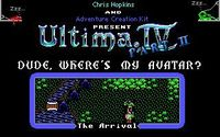 """Video Game: Ultima IV Part 2: """"Dude, Where's My Avatar?"""""""