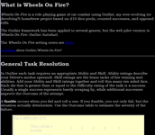 RPG Item: Wheels on Fire