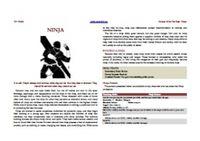 RPG Item: Heroes of the Far East: Ninja