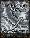 RPG Item: Winter Forest Path 32x22 Battlemap