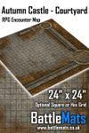 RPG Item: Autumn Castle - Courtyard RPG Encounter Map