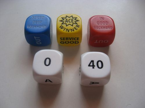 Board Game: Tennis Dice