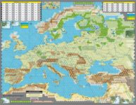 Board Game Accessory: Unconditional Surrender! World War 2 in Europe: Mounted Mapboards