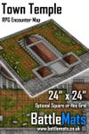 RPG Item: Town Temple RPG Encounter Map