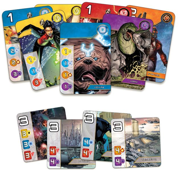Splendor Marvel, Space Cowboys, 2020 — sample components (image provided by the publisher)