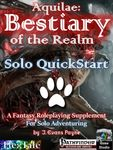RPG Item: Aquilae: Bestiary of the Realm: Solo QuickStart (PF1)