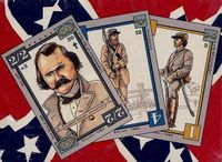 12 Deck Display Box Side - Confederate Cards