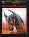 RPG Item: Monstrous Compendium Annual: Volume Four