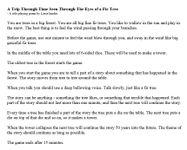 RPG Item: A Trip Through Time Seen Through The Eyes of a Fir Tree
