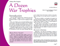 RPG Item: A Dozen War Trophies