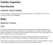 RPG Item: Paladin: Inquisitor