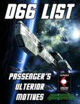 RPG Item: d66 List: Passenger's Ulterior Motives