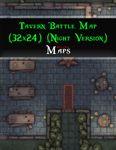 RPG Item: Tavern Battle Map (32x24) (Night Version)