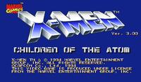 Video Game: X-Men: Children of the Atom