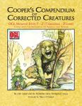 RPG Item: Cooper's Compendium of Corrected Creatures: OGL Monster Stats T – Z (Tarrasque – Zombie), Along with the Appendices on Animals and Vermin