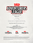 RPG Item: Adventurers League Player's Guide (Rage of Demons)