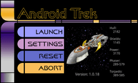 Video Game: Android Trek - Galaxy Defense