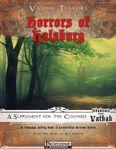 RPG Item: Vathak Terrors: Horrors of Halsburg