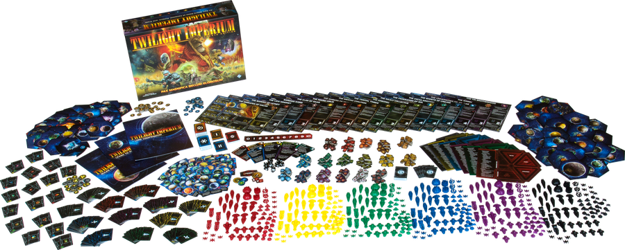 Twilight Imperium (Fourth Edition), Fantasy Flight Games, 2017 — components